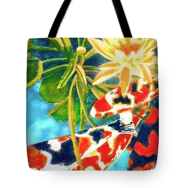 Koi Fish #104 Tote Bag by Donald k Hall