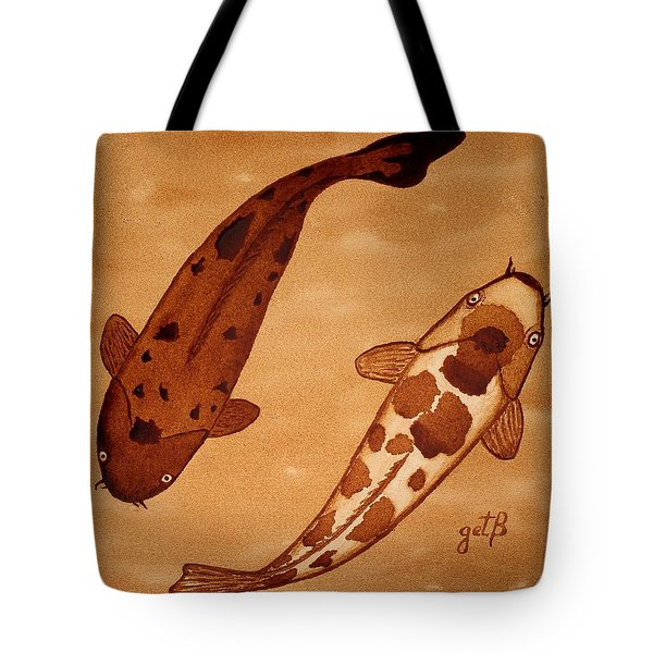 Koi Fish Feng Shui Tote Bag