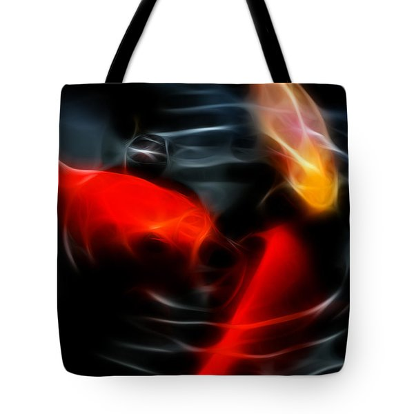 Koi Fish Tote Bag by Wingsdomain Art and Photography