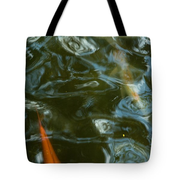 Tote Bag featuring the photograph Koi II by Break The Silhouette