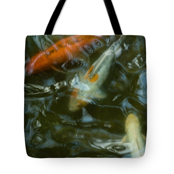 Tote Bag featuring the photograph Koi IIi by Break The Silhouette