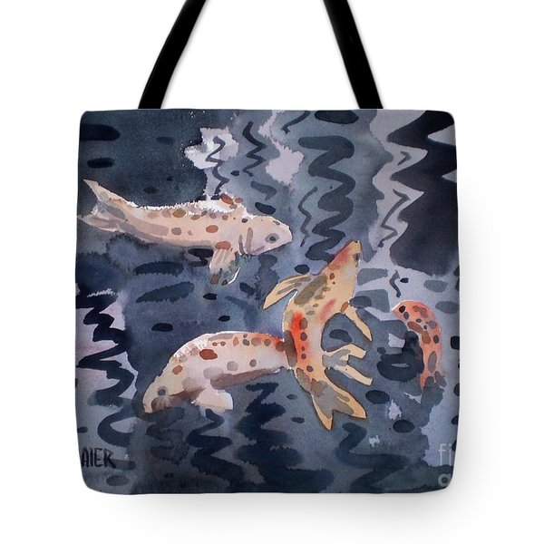 Koi Pond Tote Bag by Donald Maier