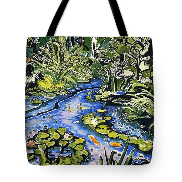 Koi Pond Tote Bag by Fay Biegun - Printscapes