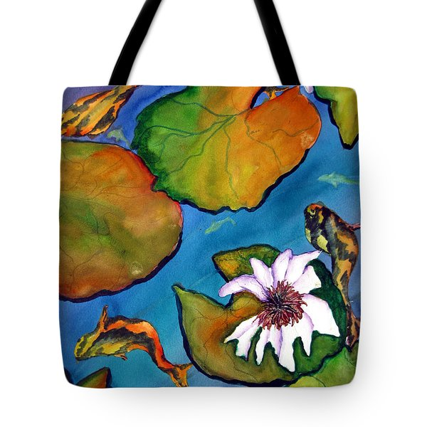 Koi Pond II Sold Tote Bag by Lil Taylor