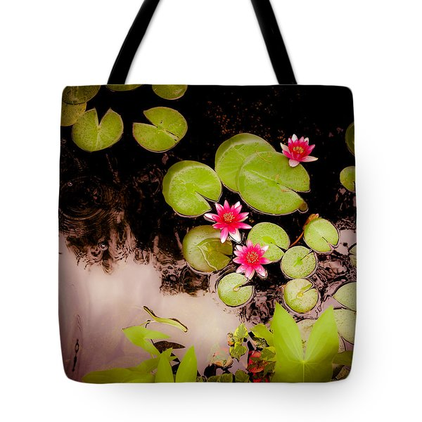 Koi Pond With Water Lilies Tote Bag