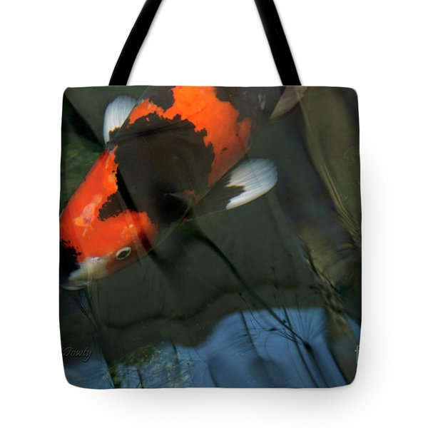Koi Reflection Tote Bag