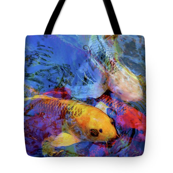 Koi Reflections Collage Tote Bag