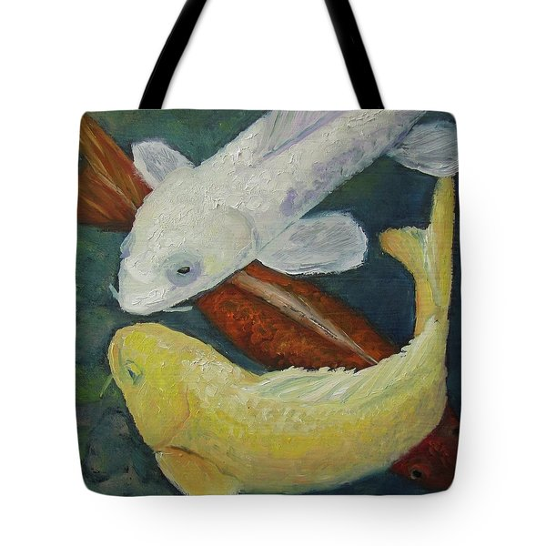 Tote Bag featuring the painting Koi by Susan  Spohn
