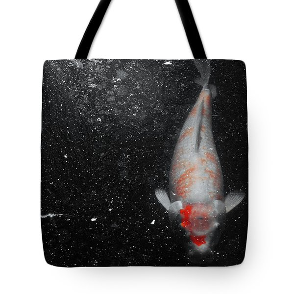 Tote Bag featuring the photograph Koi Approach by Deborah  Crew-Johnson