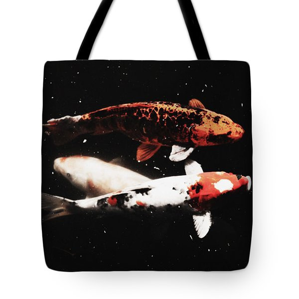 Tote Bag featuring the photograph Koi Trio  by Deborah  Crew-Johnson