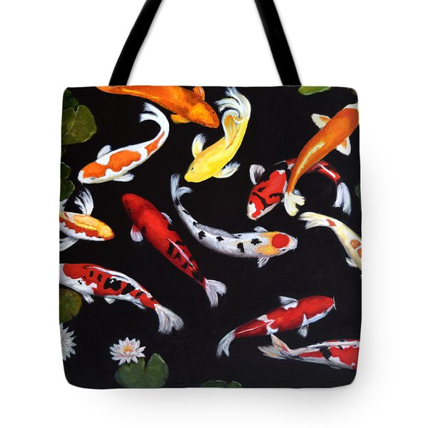 Tote Bag featuring the painting Koi V by Sandra Nardone