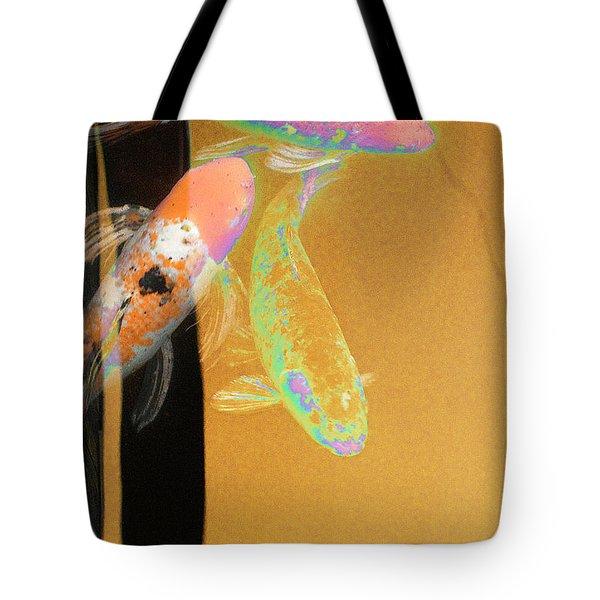 Koi Vi Yellow Tote Bag