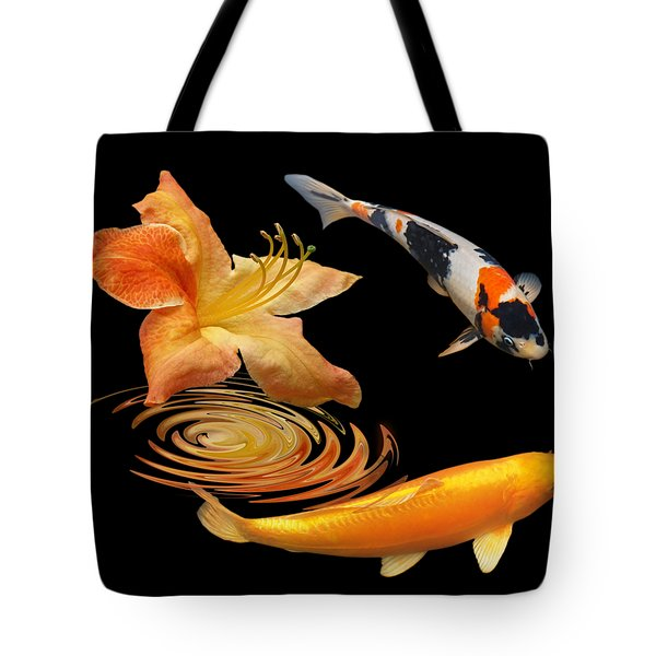Koi With Azalea Ripples Tote Bag