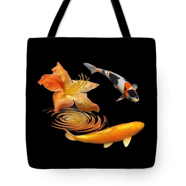 Koi With Azalea Ripples Tote Bag