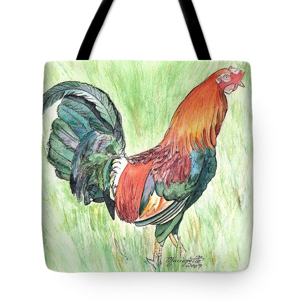 Kokee Rooster Tote Bag by Marionette Taboniar