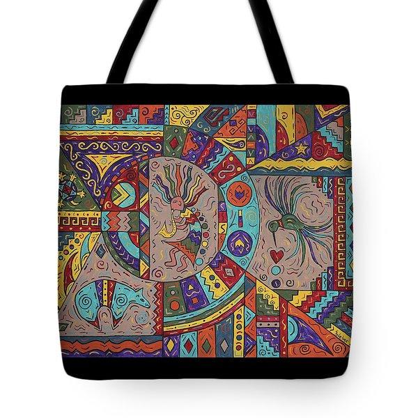 Kokopelli Mandala Tote Bag