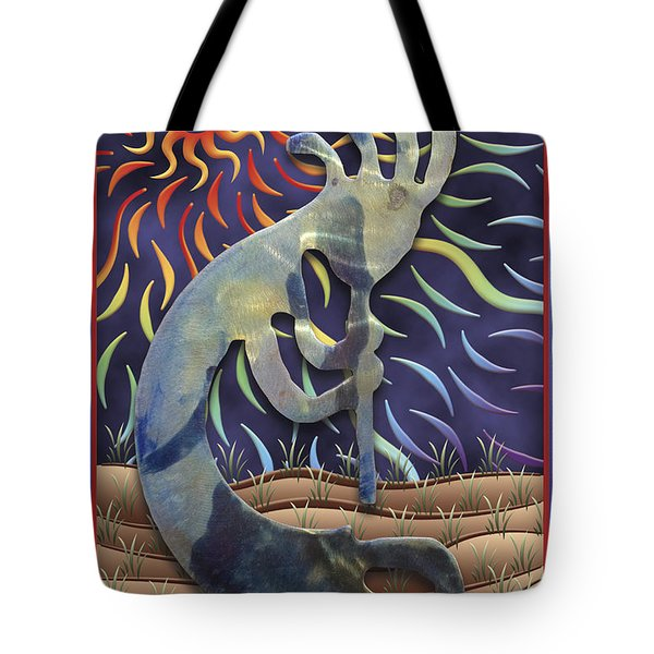Kokopelli Spring Tote Bag