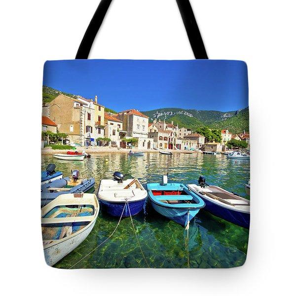 Komiza On Vis Island Turquoise Waterfront Tote Bag