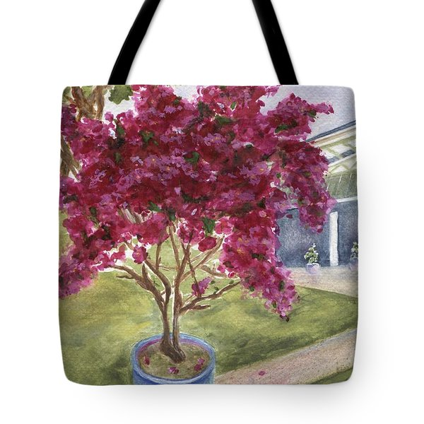 Tote Bag featuring the painting Kona Bougainvillea by Jamie Frier