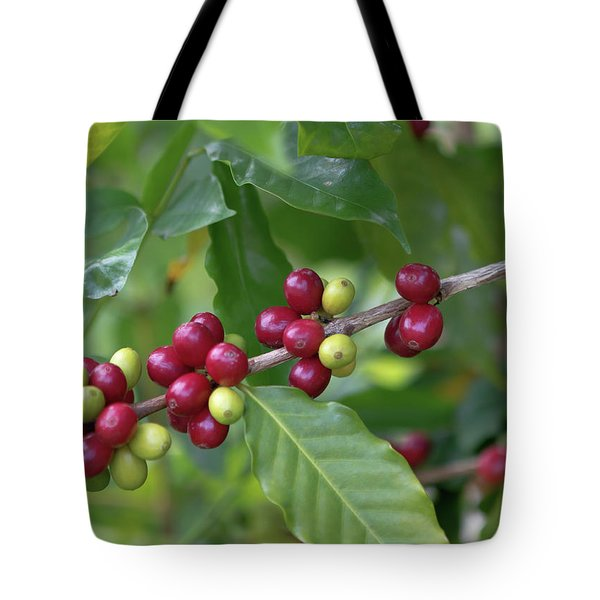 Kona Coffee Cherries Tote Bag