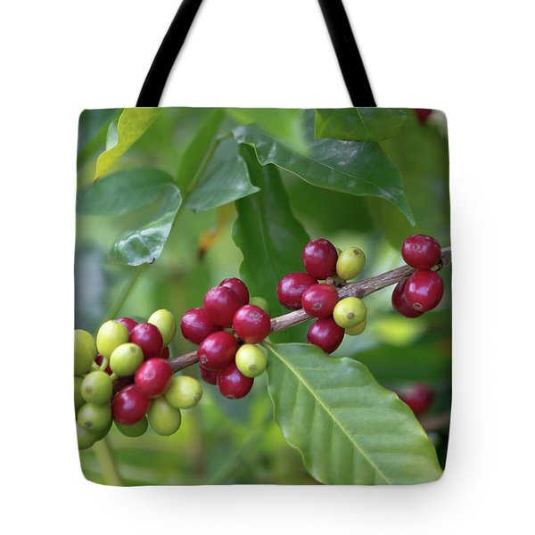 Kona Coffee Cherries Tote Bag