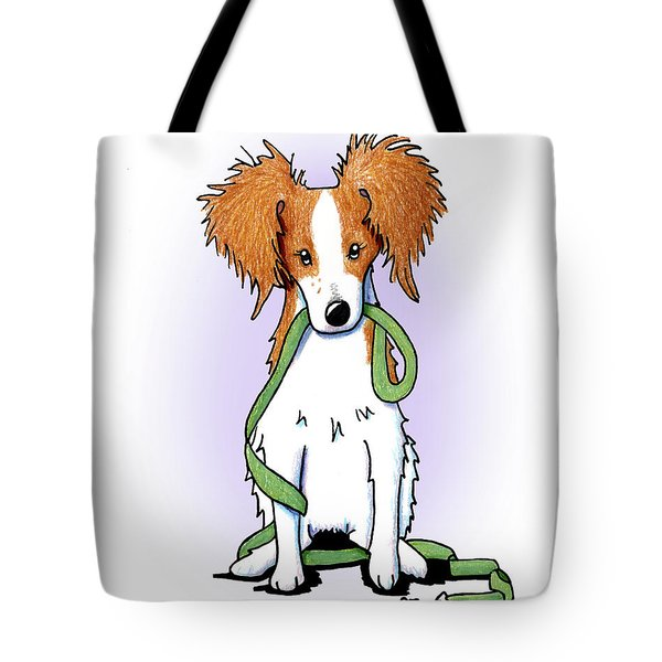 Kooikerhondje With Leash Tote Bag by Kim Niles