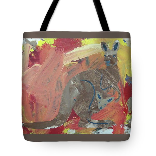 Tote Bag featuring the painting Kooky Kangaroo by Candace Shrope