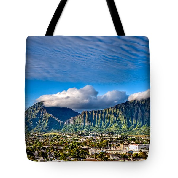 Tote Bag featuring the photograph Koolau And Pali Lookout From Kanohe by Dan McManus