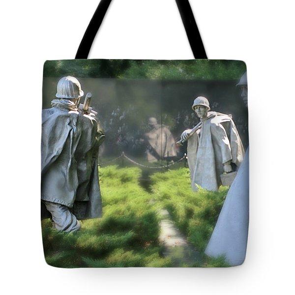 Korean Memorial Tote Bag by Lorella Schoales