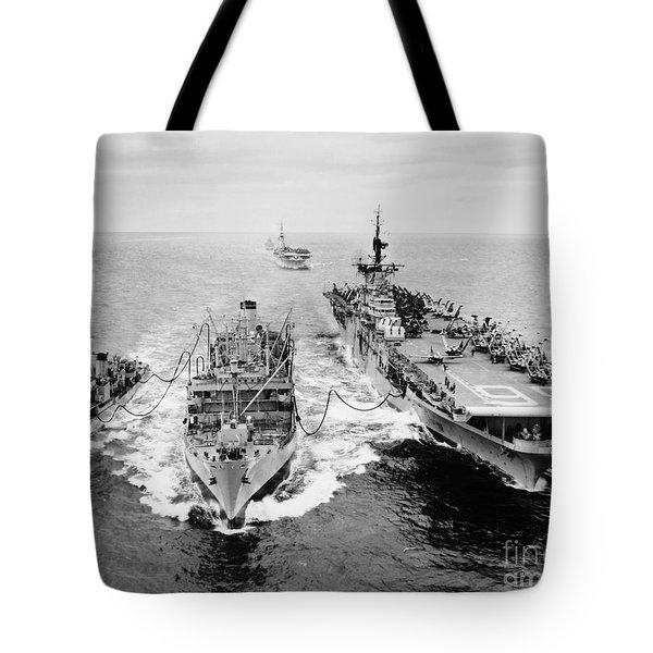 Korean War: Ship Refueling Tote Bag by Granger