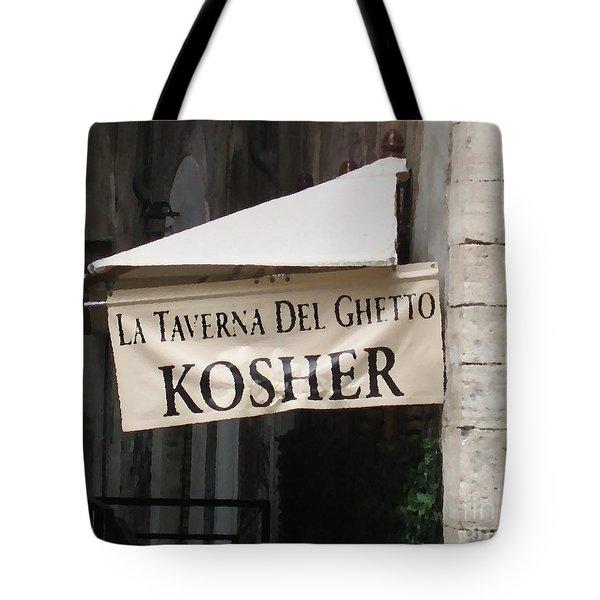 Kosher Tote Bag by Rhonda Chase