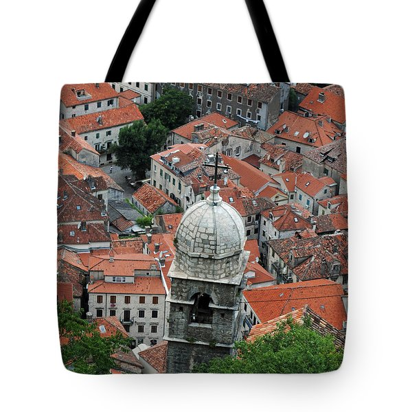 Kotor Rooftops Tote Bag by Robert Moss