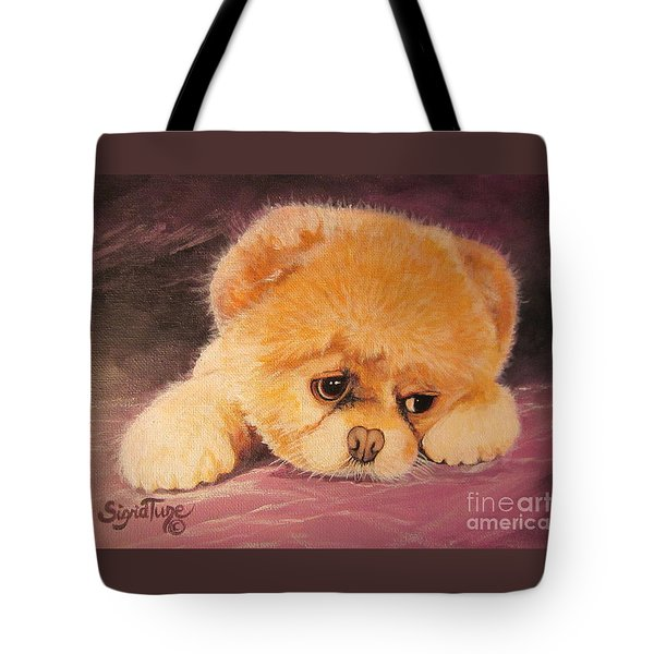 Koty The Puppy Tote Bag