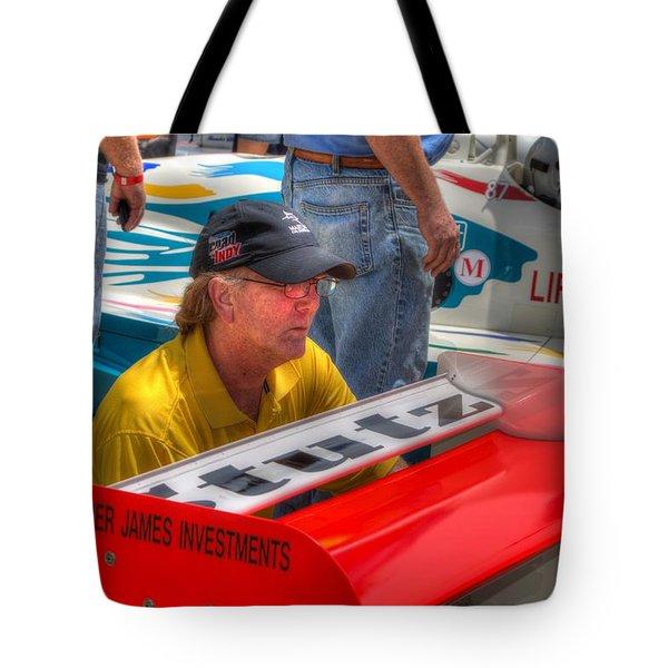 Kraig Johnson Driver Mechanic Raconteur Tote Bag