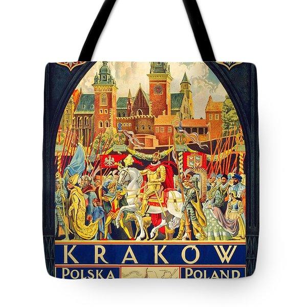Krakow Poland - Vintage Travel Poster Tote Bag