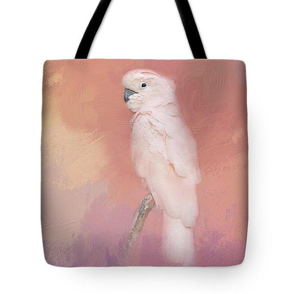 Kramer The Moluccan Cockatoo Tote Bag by Theresa Tahara