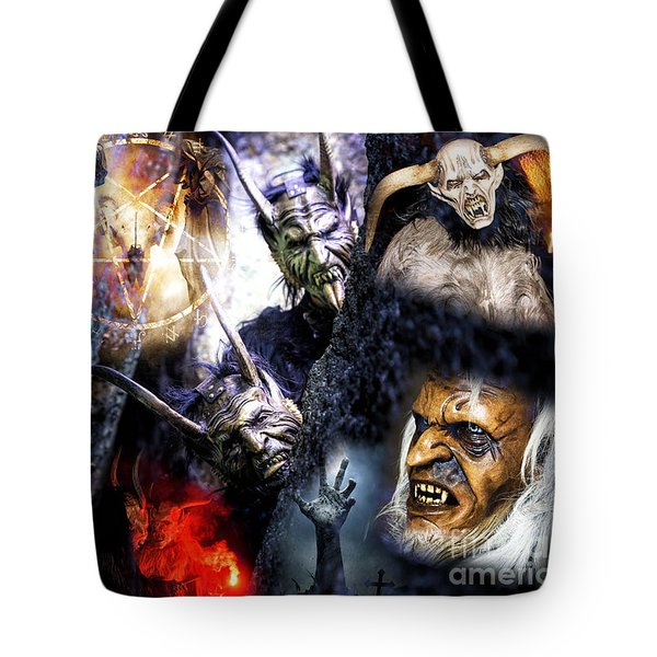 Krampus Tote Bag by John Rizzuto