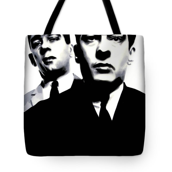 Kray Twins Tote Bag by Luis Ludzska
