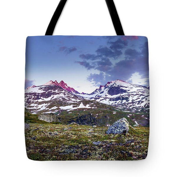 Tote Bag featuring the photograph Crimson Peaks by Dmytro Korol