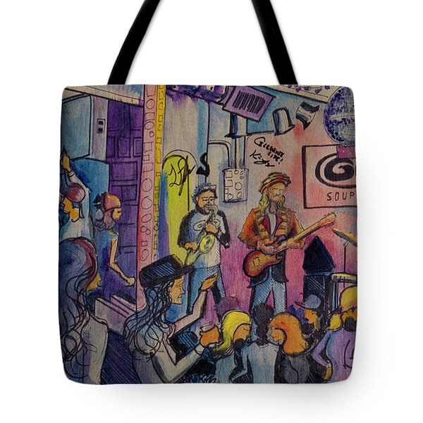 Kris Lager Band At The Goat Tote Bag by David Sockrider