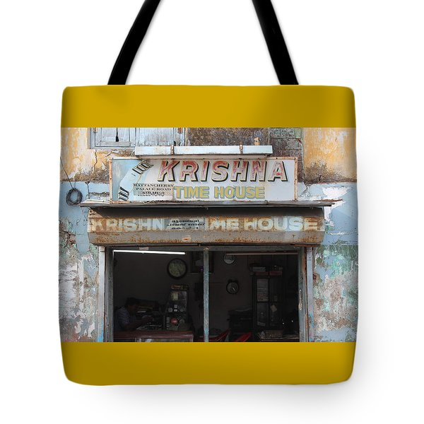 Krishna Time House Tote Bag