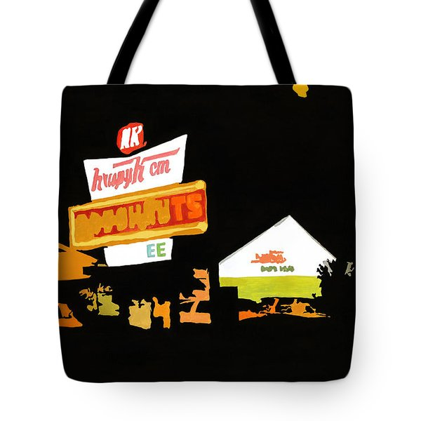 Krispy Kreme At Night Tote Bag