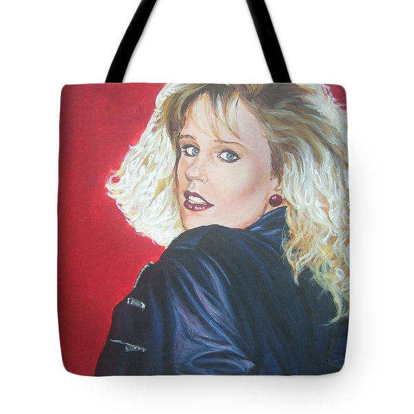 Tote Bag featuring the painting Kristi Sommers by Bryan Bustard