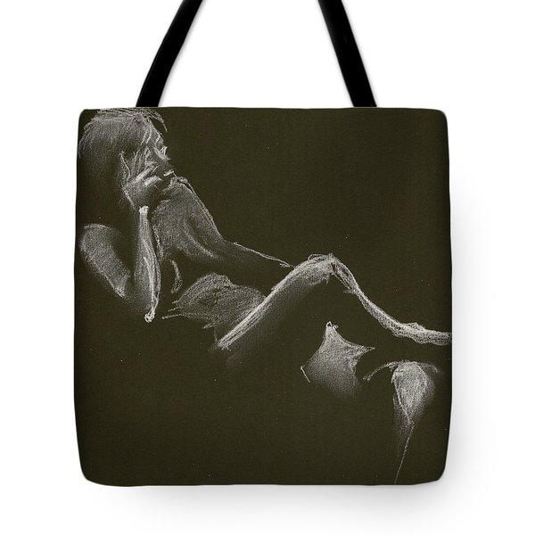 Kroki 2014 12 27_3 Figure Drawing White Chalk Tote Bag