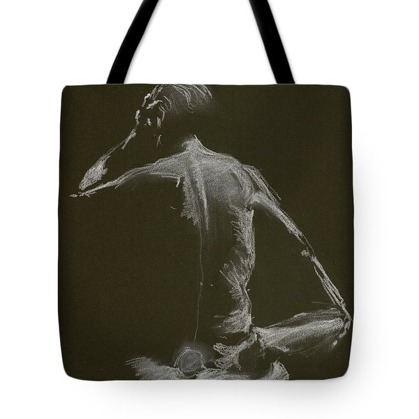 Kroki 2015 01 10_14 Figure Drawing White Chalk Tote Bag