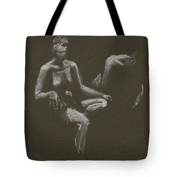 Kroki 2015 04 25 _3 Figure Drawing White Chalk Tote Bag