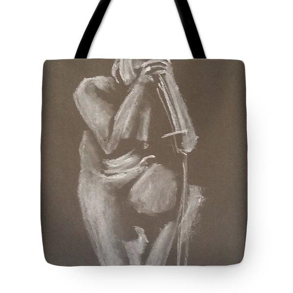 Kroki 2015 06 18_4 Figure Drawing Chinese Sword White Chalk Tote Bag