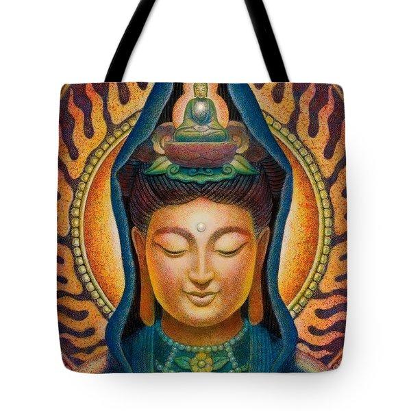 Kuan Yin Flame Tote Bag by Sue Halstenberg