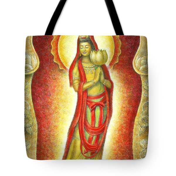 Kuan Yin Lotus Tote Bag