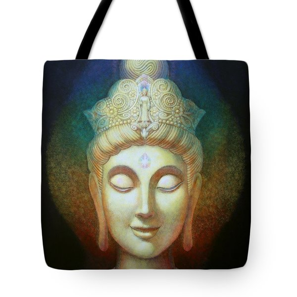 Tote Bag featuring the painting Kuan Yin's Light by Sue Halstenberg
